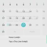 Honor 7 kalendář