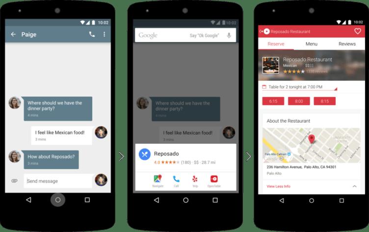 Funkce On Tap nabídne informace k restauraci, zmíněné v konverzaci
