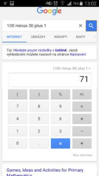 kalkulačka výsledek