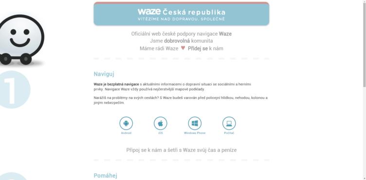 Nedávno byl spuštěn oficiální web české podpory navigace Waze - Wazer.cz, kde se můžete dozvědět další informace o této navigační aplikaci