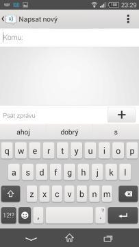 Sony Xperia Z3 Compact - klávesnice