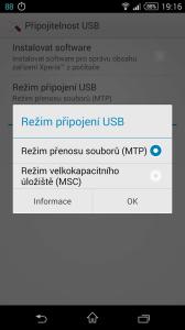 Sony Xperia Z3 Compact - připojení k počítači