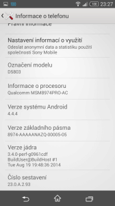 Sony Xperia Z3 Compact - systém Android 4.4.4 (1)