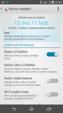 Sony Xperia Z3 Compact - úsporný režim STAMINA (3)