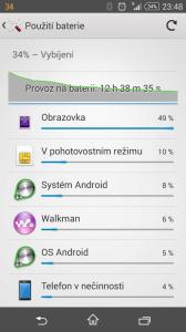 Sony Xperia Z3 Compact - výdrž při intenzivním využívání