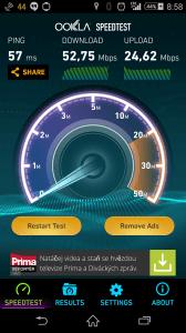Sony Xperia Z3 - rychlost LTE připojení