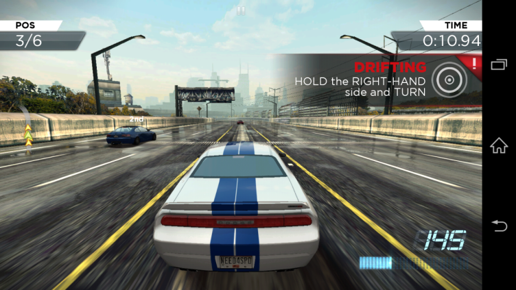 Závodní titul Need for Speed: Most Wanted běžel skvěle