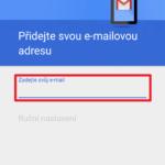 Zadejte e-mailovou adresu