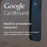Aplikace Google Cardboard v češtině