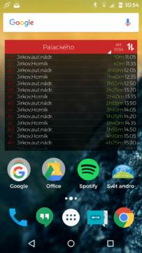 MHD Tabule - Screenshot aplikace (11)