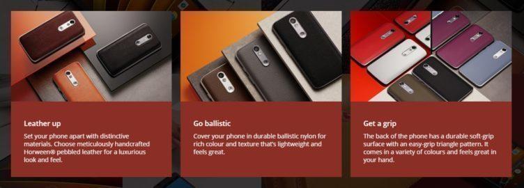Motorola Moto X Force materiály