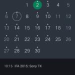 Oppo R7 kalendář