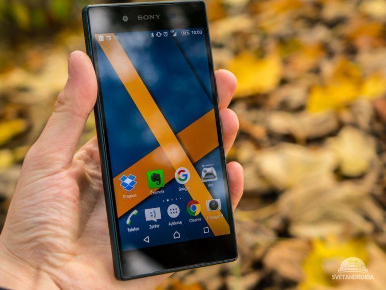 Sony-Xperia-Z5-konstrukce zepředu