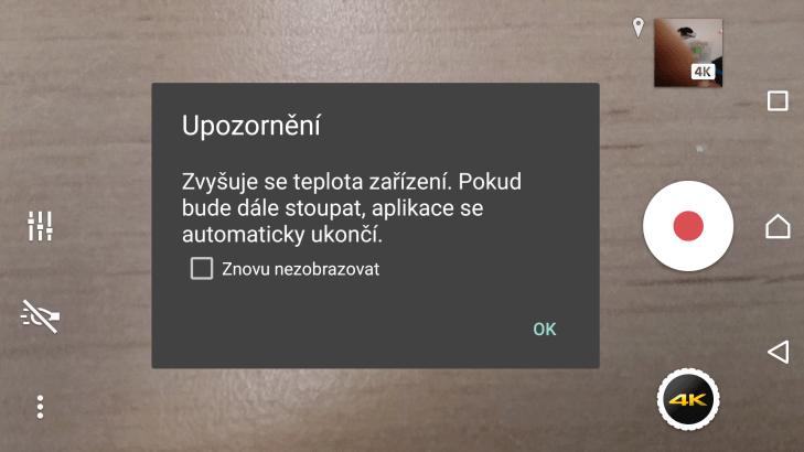 Sony Xperia Z5 - natáčení video, přehřívání