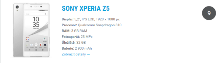 Sony Xperia Z5 - odkaz do katalogu