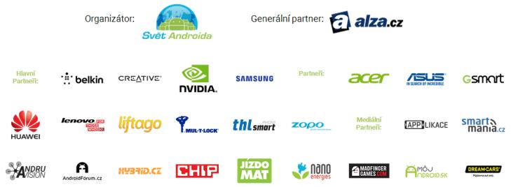 Alza Android RoadShow 2015 - Partneři