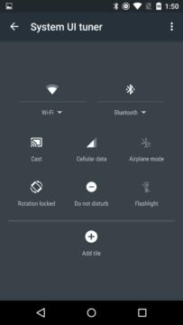 Uspořádání ikon přepínačů v rychlém nastavení