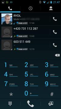GSmart Guru G1 - dialer a kontakty (3)