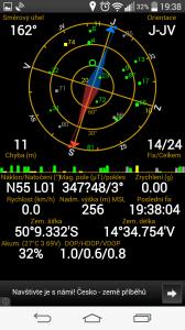 LG G3s - připojení k GPS satelitům