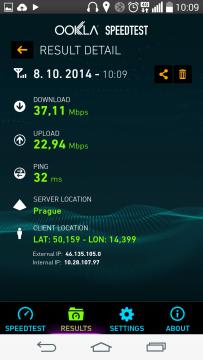 LG G3s - rychlost LTE připojení (1)
