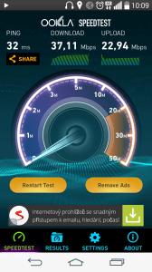 LG G3s - rychlost LTE připojení (2)