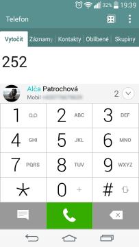 LG G3s - T9 a kontakty (2)