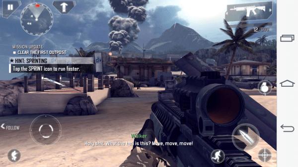Akční pecka Modern Combat 4 běžela velmi dobře