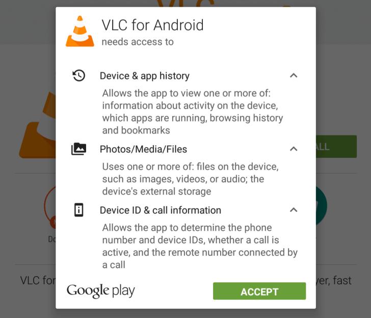 Jednou z největších změn VLC 1.6 je snížení počtu požadovaných oprávnění