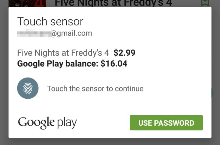 Obchod Play, kde je možné utratit nemalé finanční částky za aplikace, hudbu, knížky a videa, nově nabízí bezpečné ověření transakce otiskem prstu.