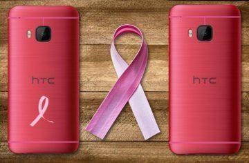 Růžové HTC One M9 vybočí z  davu a podpoří boj proti rakovině prsu