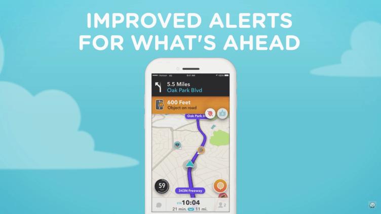 Waze 4.0 nabídne přehlednější zobrazení varování před událostí.