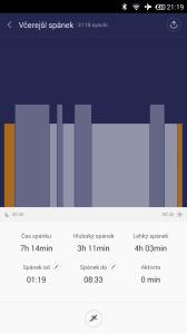 Xiaomi MiBand - analýza spánku (1)