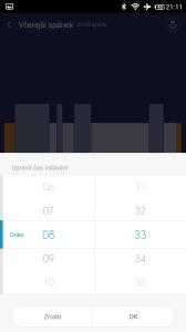 Xiaomi MiBand - úprava času vstávání