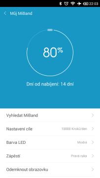 Xiaomi MiBand - výdrž na jedno nabití