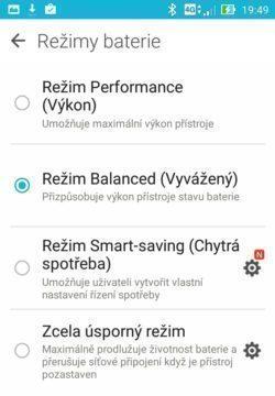 Asus ZenFone 2 Laser - režimy pro úsporu baterie 2