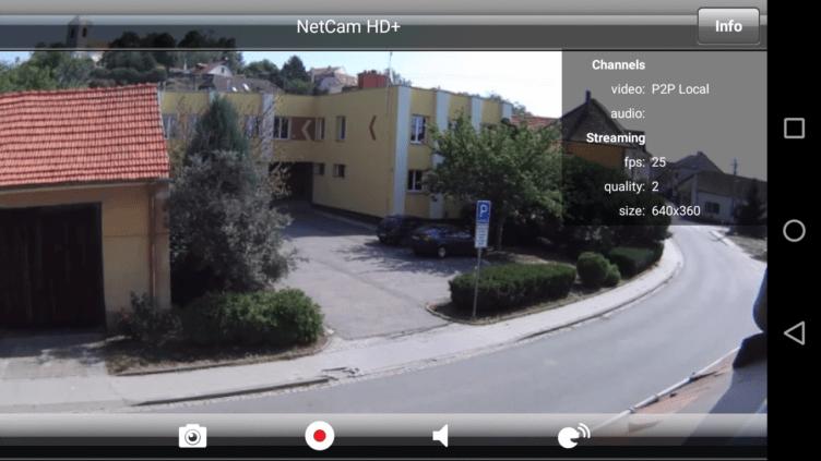 Livestream v aplikaci Belkin NetCam HD+