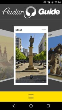 DARUMAgo – titulní aplikace – výběr měst