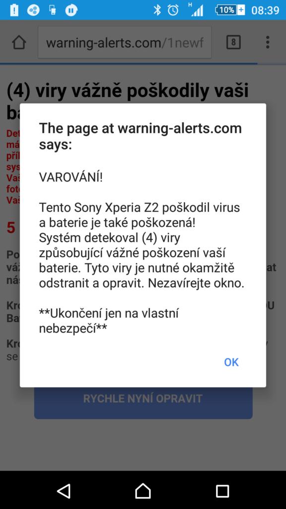 Toto není opravdový virus, nabojte