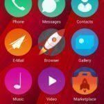 Firefox OS – obrazovka s aplikacema