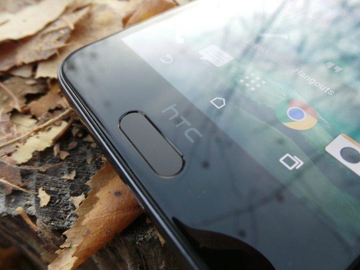 HTC One A9 - konstrukce, čtečka otisků prstů