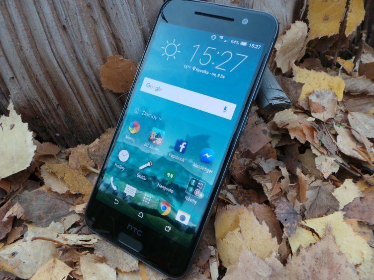 HTC One A9, konstrukce - přední strana, displej aktualizace