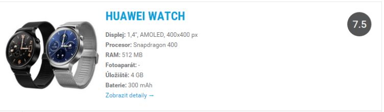 Huawei Watch - odkaz do katalogu