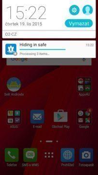 KeepSafe – průběh přesunu