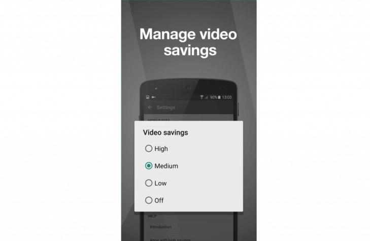 Mobilní data - Opera Max