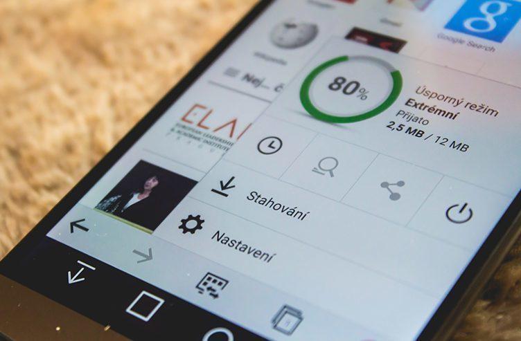 Prohlížeče Opera na mobilu