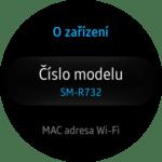 Samsung Gear S2 – nastavení – o zařízení