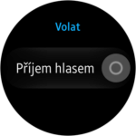 Samsung Gear S2 – nastavení – příjem hlasem