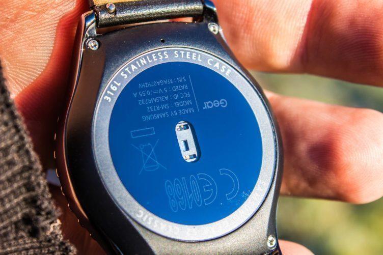 Samsung Gear S2 - senzor srdečního tepu