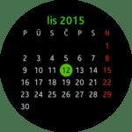 Samsung Gear S2 – widget kalendář