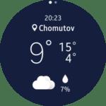 Samsung Gear S2 – widget počasí 1